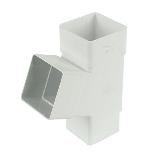 Floplast 65mm White Square Downpipe Branch (RYS1W)