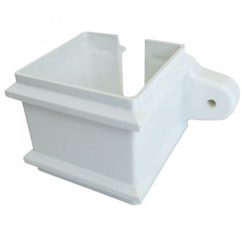 Floplast 65mm White Square Classic Downpipe Clip - with Lugs (RCS4W)