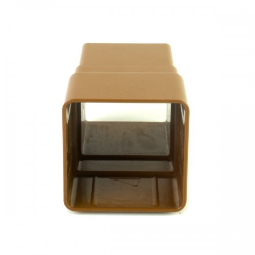 Floplast Caramel Square Downpipe Joint