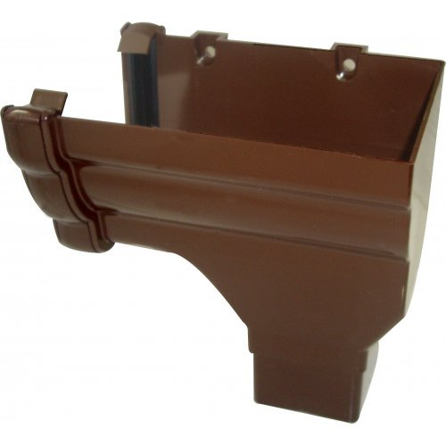 Floplast Niagara Brown Gutter Stop End Outlet