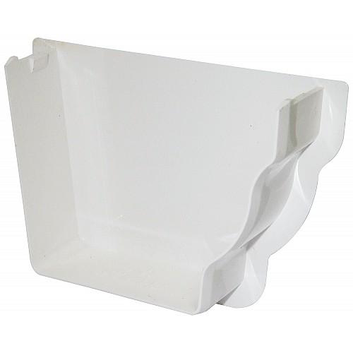 Floplast Niagara White Internal Gutter Stop End