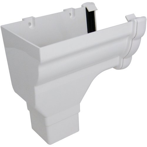 Floplast Niagara White Gutter Stop End Outlet