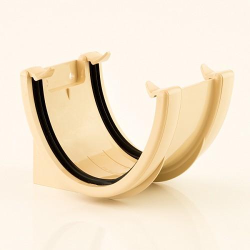 Floplast Cream (Sand) 115mm Deep Flow Gutter Union/Joint