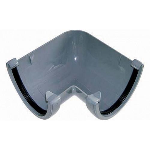 Floplast Grey 115mm Deep Flow 90º Gutter Angle