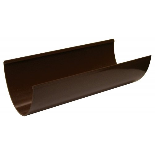 Floplast Plastic Brown 115mm Deep Flow 4m Guttering
