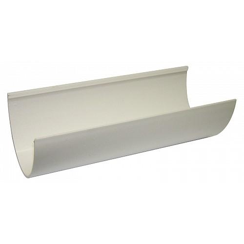 Floplast White 115mm Deep Flow 4m Gutter