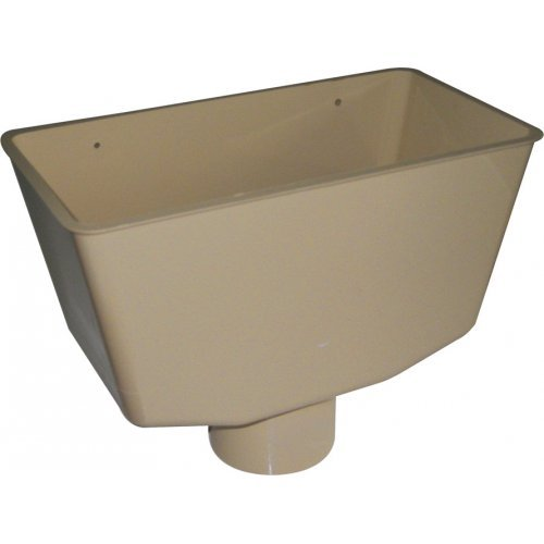 Floplast Cream (Sand) 80mm Downpipe Hopper
