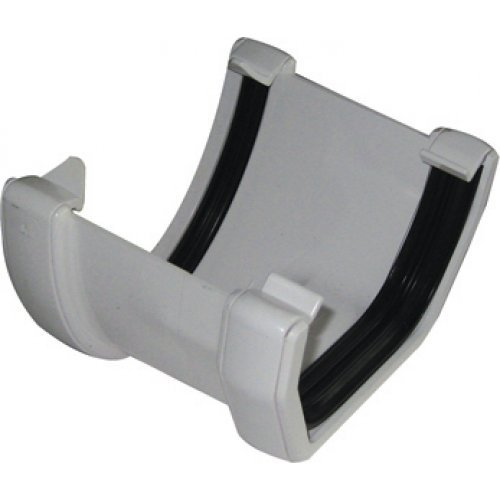 Floplast White 115mm Deep Flow To 114mm Square Gutter Convertor