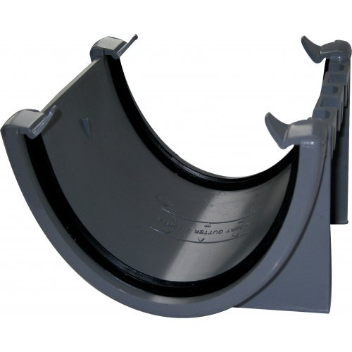 Floplast Grey 115mm Deep Flow Gutter Union/Joint