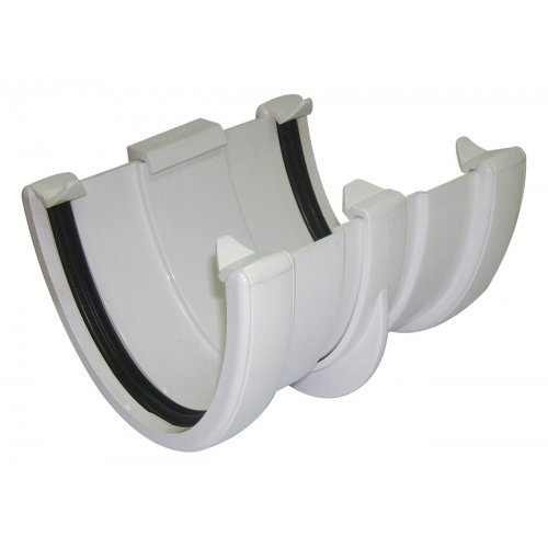 Floplast White 115mm Deep Flow Gutter Union/Joint
