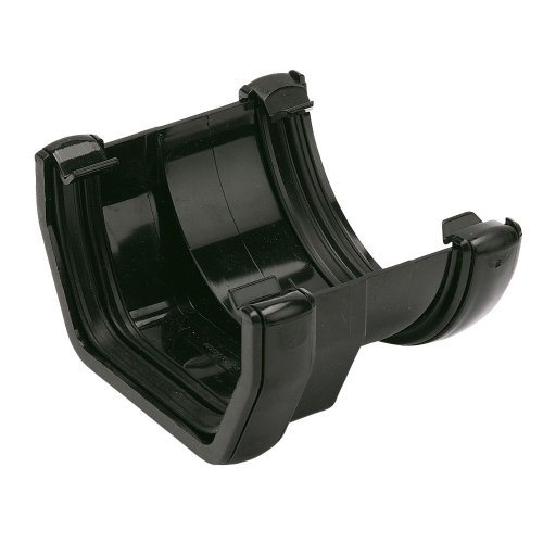 Floplast 114mm Square To 112mm Round Black Gutter Adapter (RDS1B)