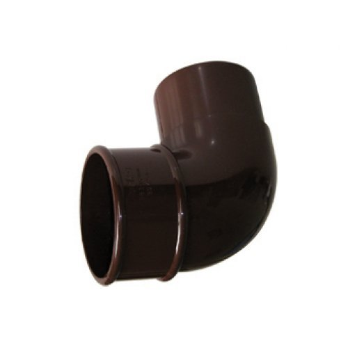 68mm Brown Round 90º Downpipe Bend (RB1V)