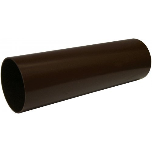 Floplast 68mm Brown Round 4m Downpipe (RP4V)