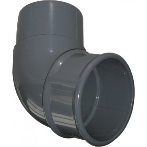 Floplast 68mm Grey Round Downpipe 112º Off Set Bend (RB2G)