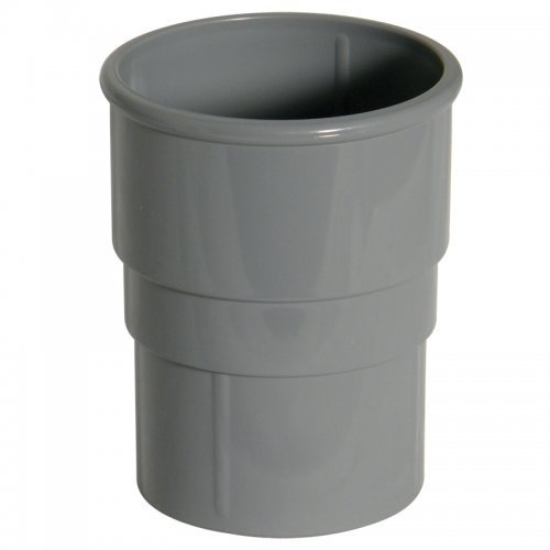 Floplast 68mm Grey Round Downpipe Pipe Joint (RS1G)