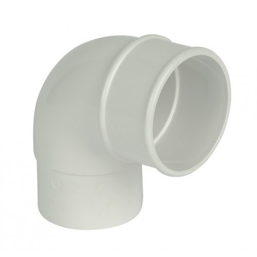 Floplast 68mm White Round 90º Downpipe Bend (RB1W)