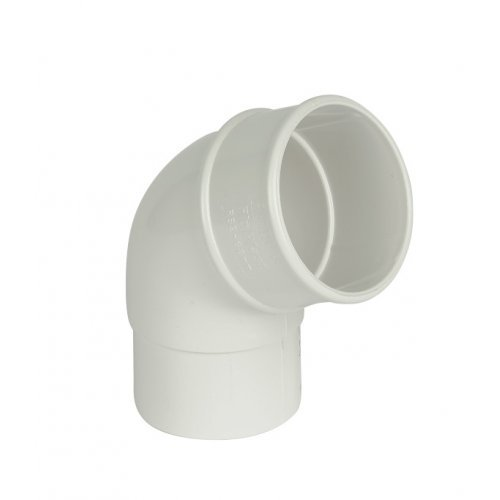 68mm White Round Downpipe 112º Off Set Bend (RB2W)