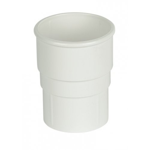 Floplast 68mm White Round Downpipe Joint (RS1W)