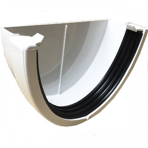 Floplast Xtraflo 170mm Gutter External Stopend - White