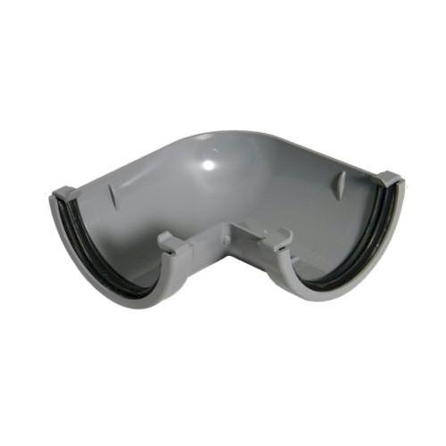90º Angle - Floplast 76mm Miniflo Gutter - Grey