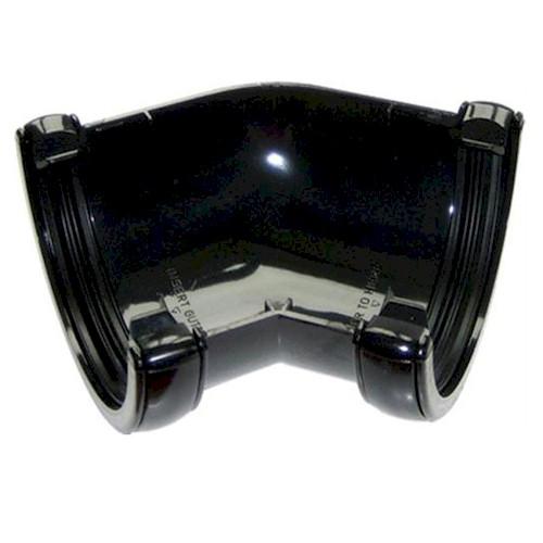 135º Angle - Floplast 76mm Miniflo MIni Guttering - Black