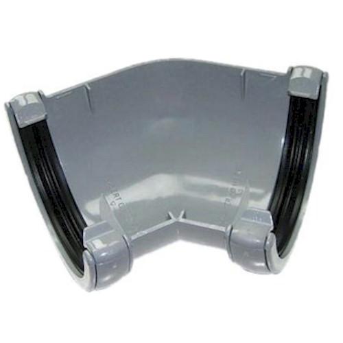 135º Angle - Floplast 76mm Miniflo Guttering - Grey