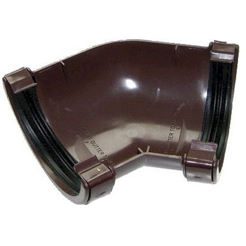135º Angle - Floplast 76mm Miniflo Guttering - Brown