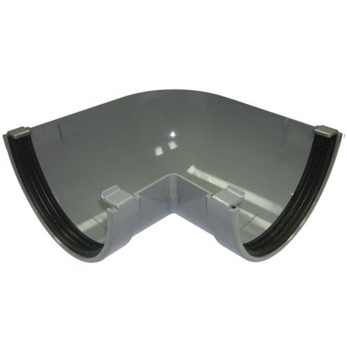 Floplast Xtraflo 170mm Gutter 90º Angle - Grey