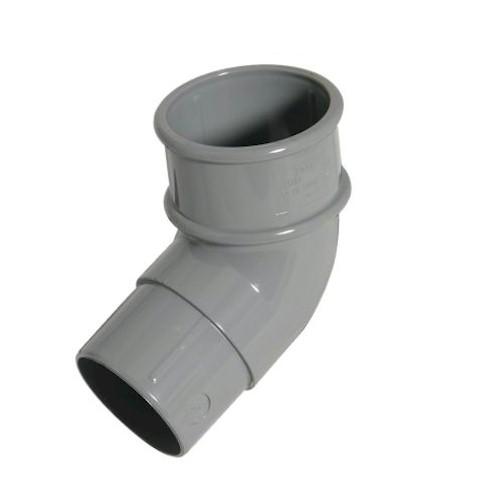 FloPlast 50mm Miniflo Downpipe 112.5° Offset Bend Grey
