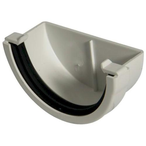 External Stopend - Floplast 76mm Miniflo Gutter - White