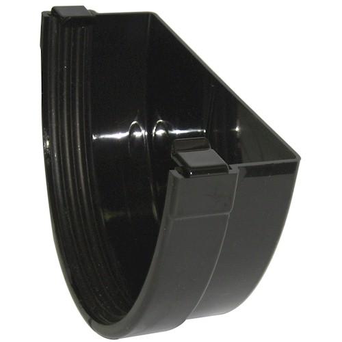 Floplast Xtraflo 170mm Gutter External Stopend - Black