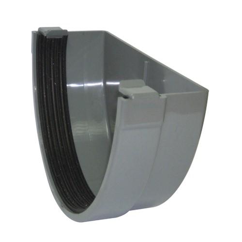 Floplast Xtraflo 170mm Gutter External Stopend - Grey