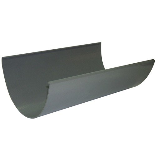 Floplast Xtraflo Industrial Commercial 170mm x 4m Gutter - Grey