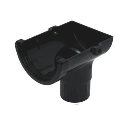 Stopend Outlet - Floplast 76mm Miniflo Gutter - Black