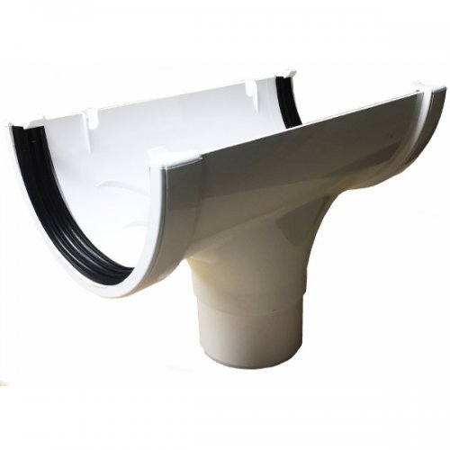 Floplast Xtraflo 170mm Gutter Running Outlet - White