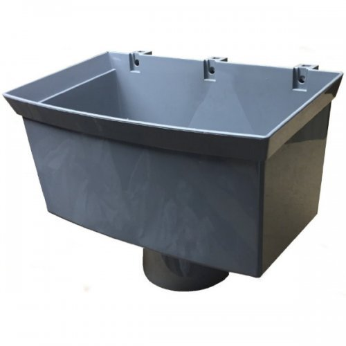 Floplast 110mm Pipe Hopper Head Grey