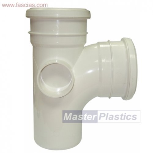 Floplast 110mm White Soil Pipe  Branch 92.5º