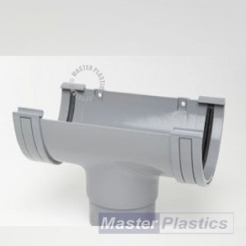150mm Grey Half Round Running Outlet Polypipe