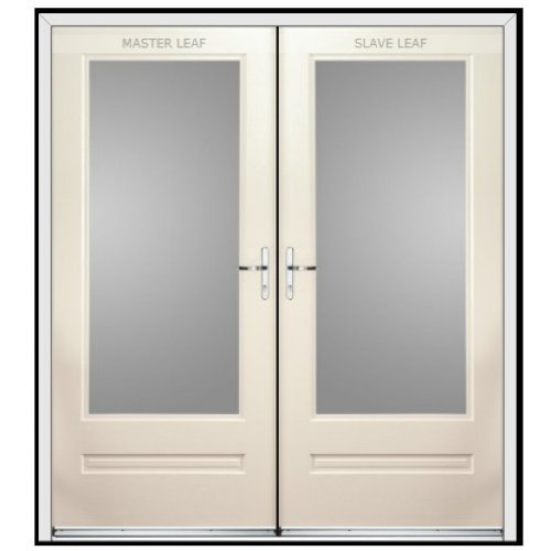 Rock Door Composite French Doors - (External) Anthracite Grey