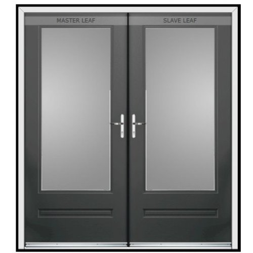 Rock Door Composite French Doors - (External) Cream