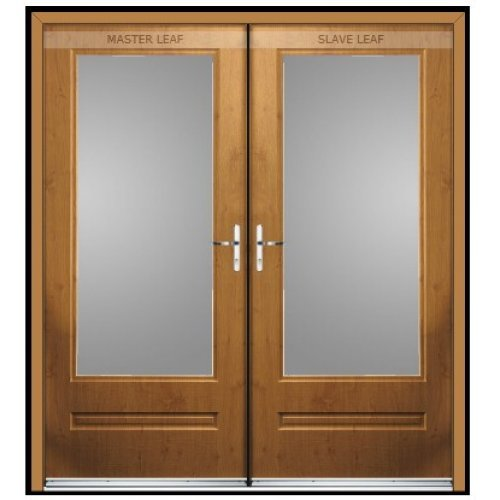 Rock Door Composite French Doors - (External) Emerald Green