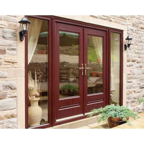 Rock Door Composite French Doors External Ruby Red