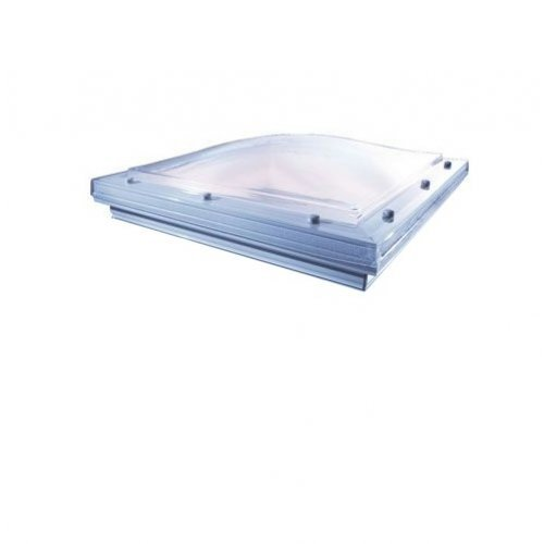 Glass 600 X 600 Fixed Fixed Dome to fit Builders Upstand - Vented
