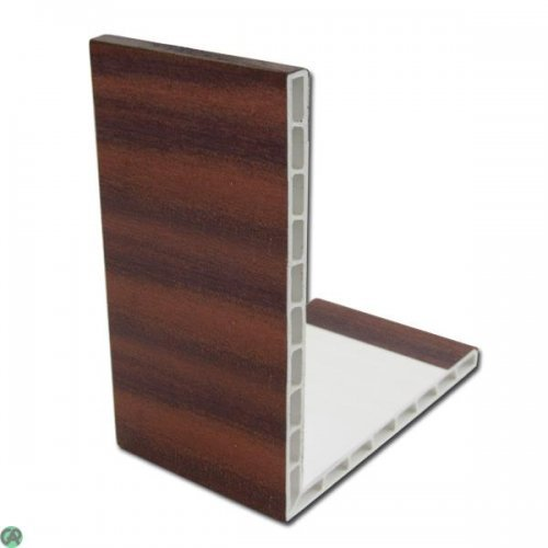 2.5m Mahogany uPVC Rigid Angle Trim 100mm x 80mm 90º