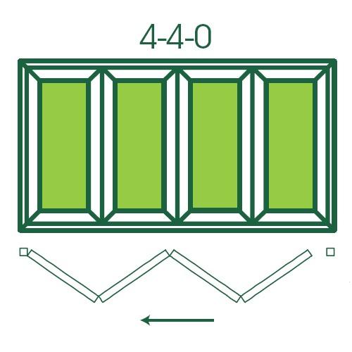 UPVC Double Glazed Made to measure Bi-fold 4 Pane Folding Door
