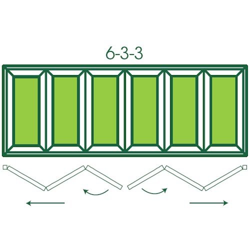 UPVC Double Glazed Made to measure Bi-fold 6 Pane Folding Door with Centre Split