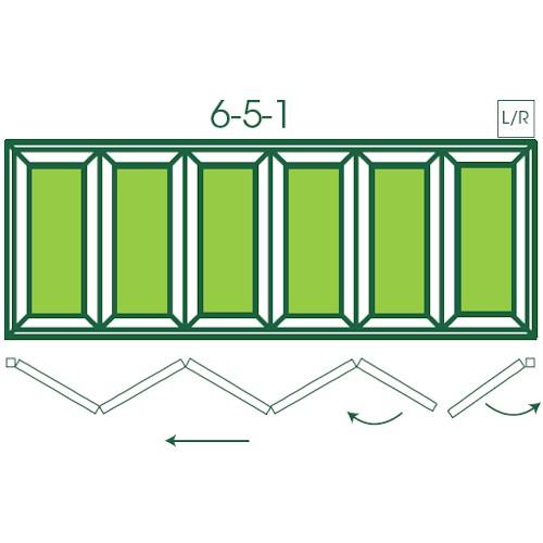 UPVC Double Glazed UPVC Double Glazed Made to measure Bi-fold 6 Pane Folding Door with 1 Fixed Door