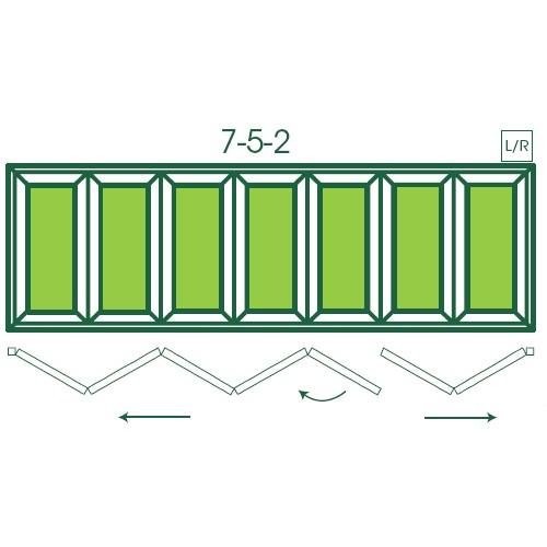 UPVC Double Glazed Made to measure Bi-fold 7 Pane Folding Door with 5 Pane  2 Pane Split