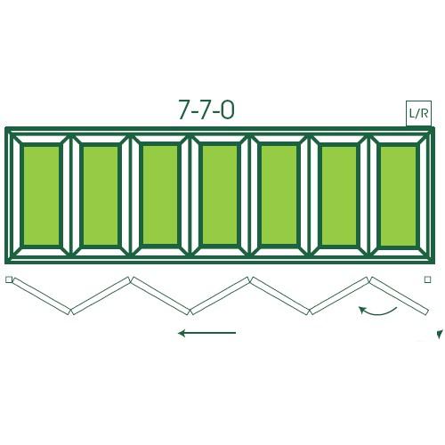 UPVC Double Glazed Made to measure Bi-fold 7 Pane Folding Door