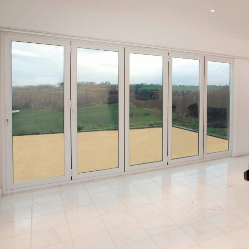 Upvc double glazed made to measure bi fold 5 pane folding door for Upvc folding doors